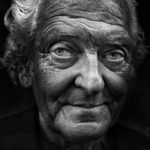 Portrét staršího muže / Closeup portrait of senior person